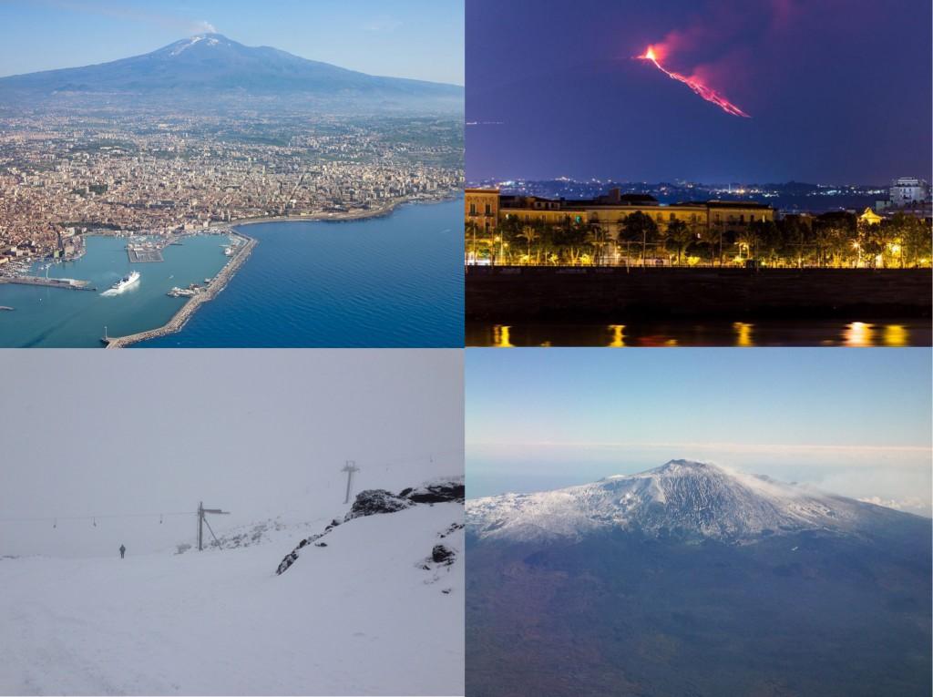 写真2:様々な表情のエトナ山