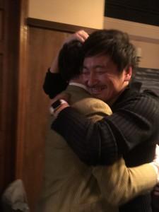 重城先生との抱擁