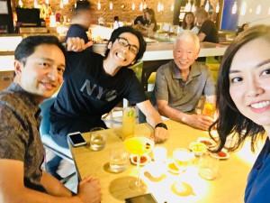 Janet夫婦と食事