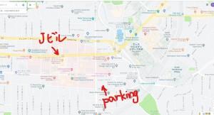 広大なCCFの敷地:お隣はケースウエスタン大学。パーキングから歩くと広さを実感する。
