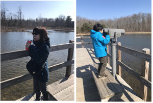 まだまだ、冷え込む日の多いクリーブランドですが、自然公園で散策すると気分が晴れます。