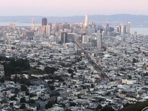 写真 4. 近所の山から見下ろしたサンフランシスコの街並み